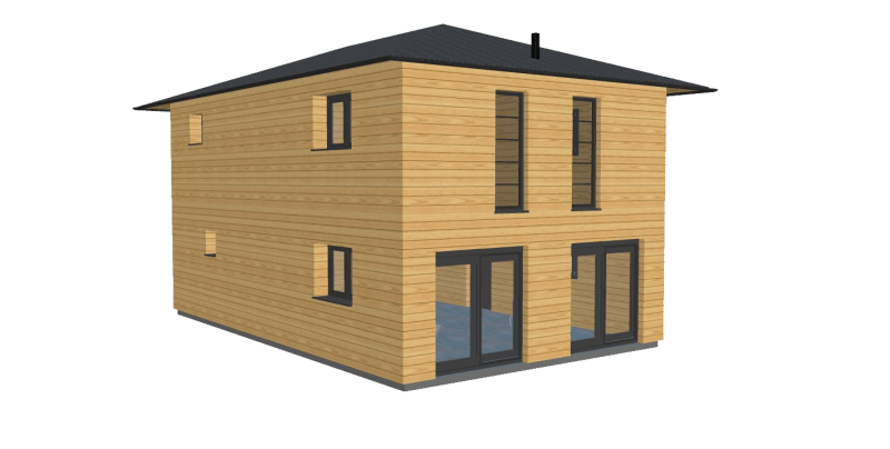 Maison bois 120 etage stmb construction png