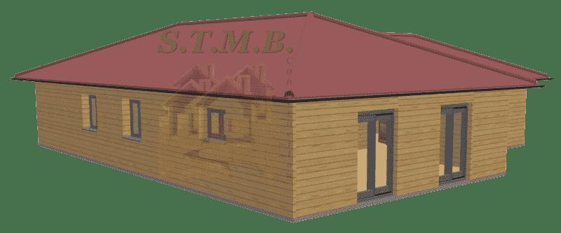 Maison bois 120m2 stmb construction