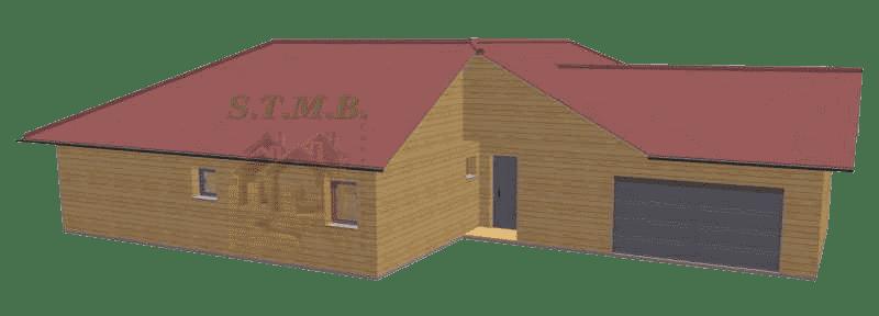 Maison bois 130m2 stmb construction