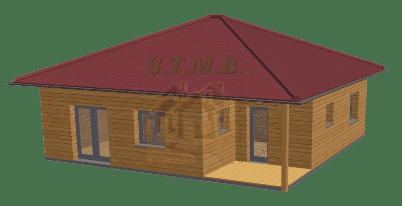 Maison bois 49m2 stmb construction optimized