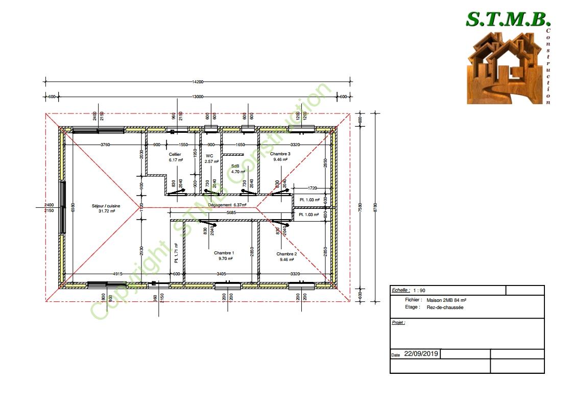 Maison bois 84m2 stmb construction