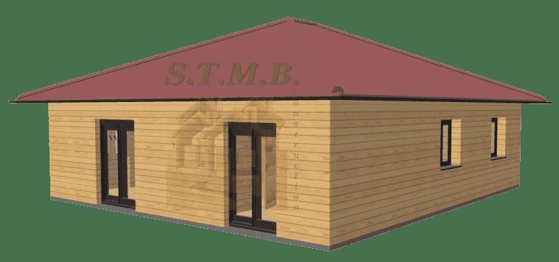 Maison bois 86m2 stmb construction 1