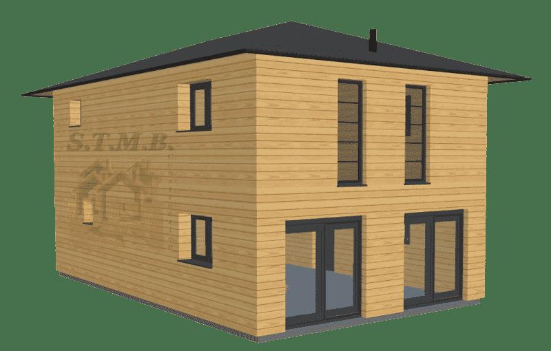 Maison bois etage 120m2 stmb construction