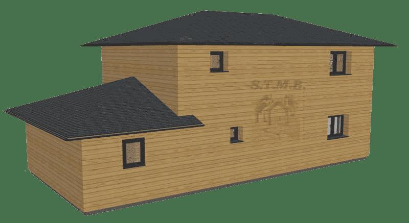 Maison bois etage garage 120m2 stmb construction