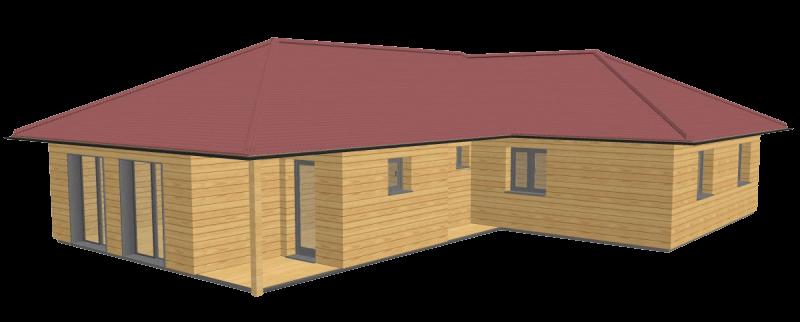 Maison en bois 100 stmb construction