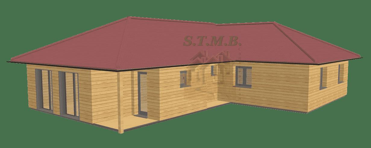 Maison en bois 100m2 stmb construction 1