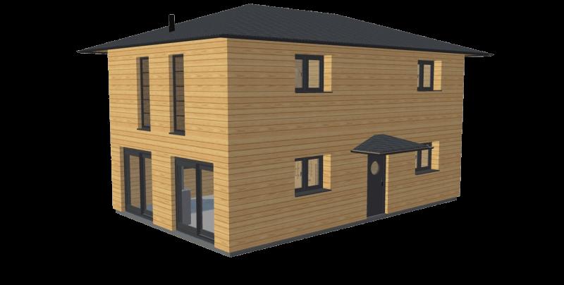 Maison en bois 120 etage stmb construction png