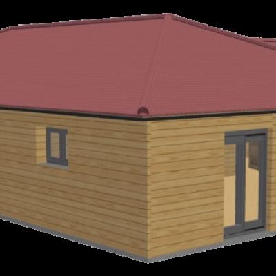 Maison en bois 120 stmb construction