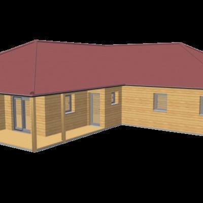 Maison en bois 130 stmb construction