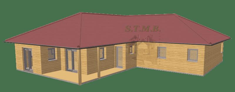 Maison en bois 130m3 stmb construction