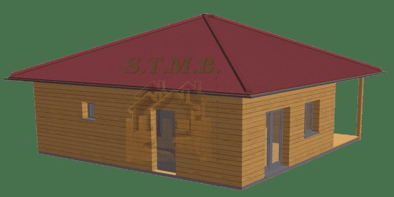 Maison en bois 49m2 stmb construction optimized 2