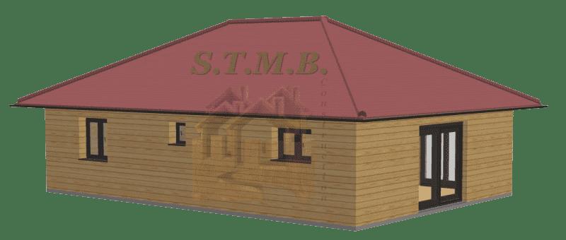 Maison en bois 72m2 stmb construction 1