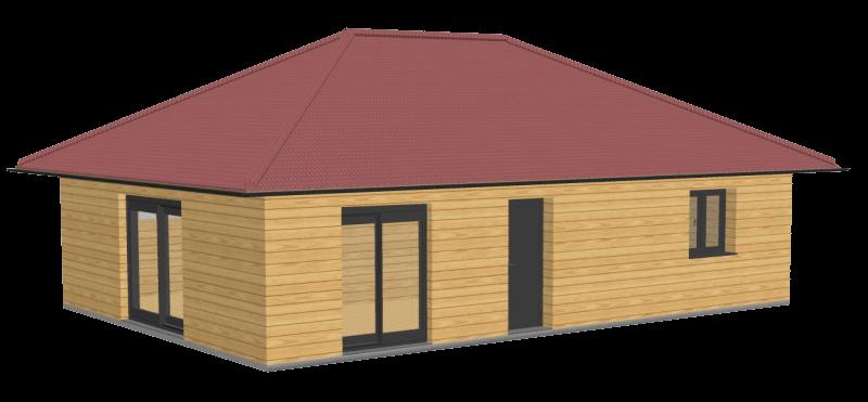 Maison en bois 72m2 stmb construction 3