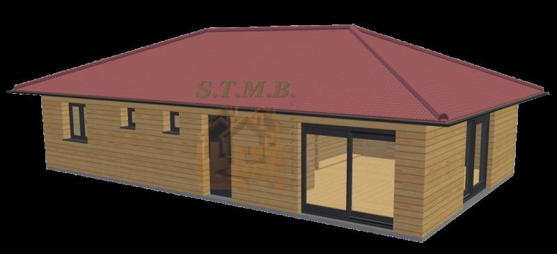 Maison en bois 84m2 stmb construction 1