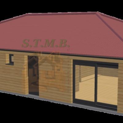 Maison en bois 84m2 stmb construction