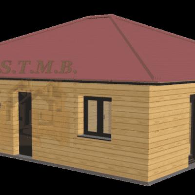 Maison en bois 86m2 stmb construction 1