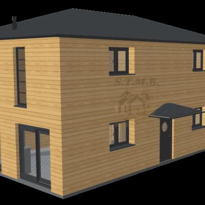 Maison en bois etage garage 120m2 stmb construction