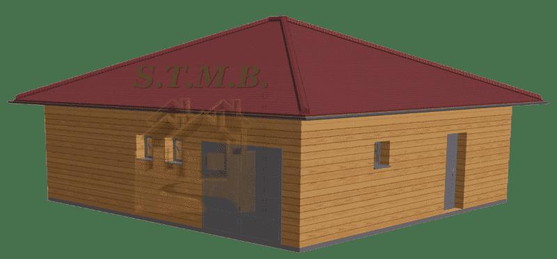 Maison en bois habitable 49m2 stmb construction optimized 1