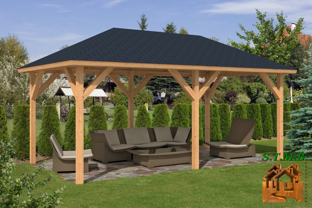 pergola en bois quel style choisir stmb construction. Black Bedroom Furniture Sets. Home Design Ideas