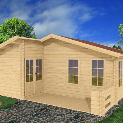 Ph1 chalet en bois kit habitable loisir merisier 33 68mm stmb construction