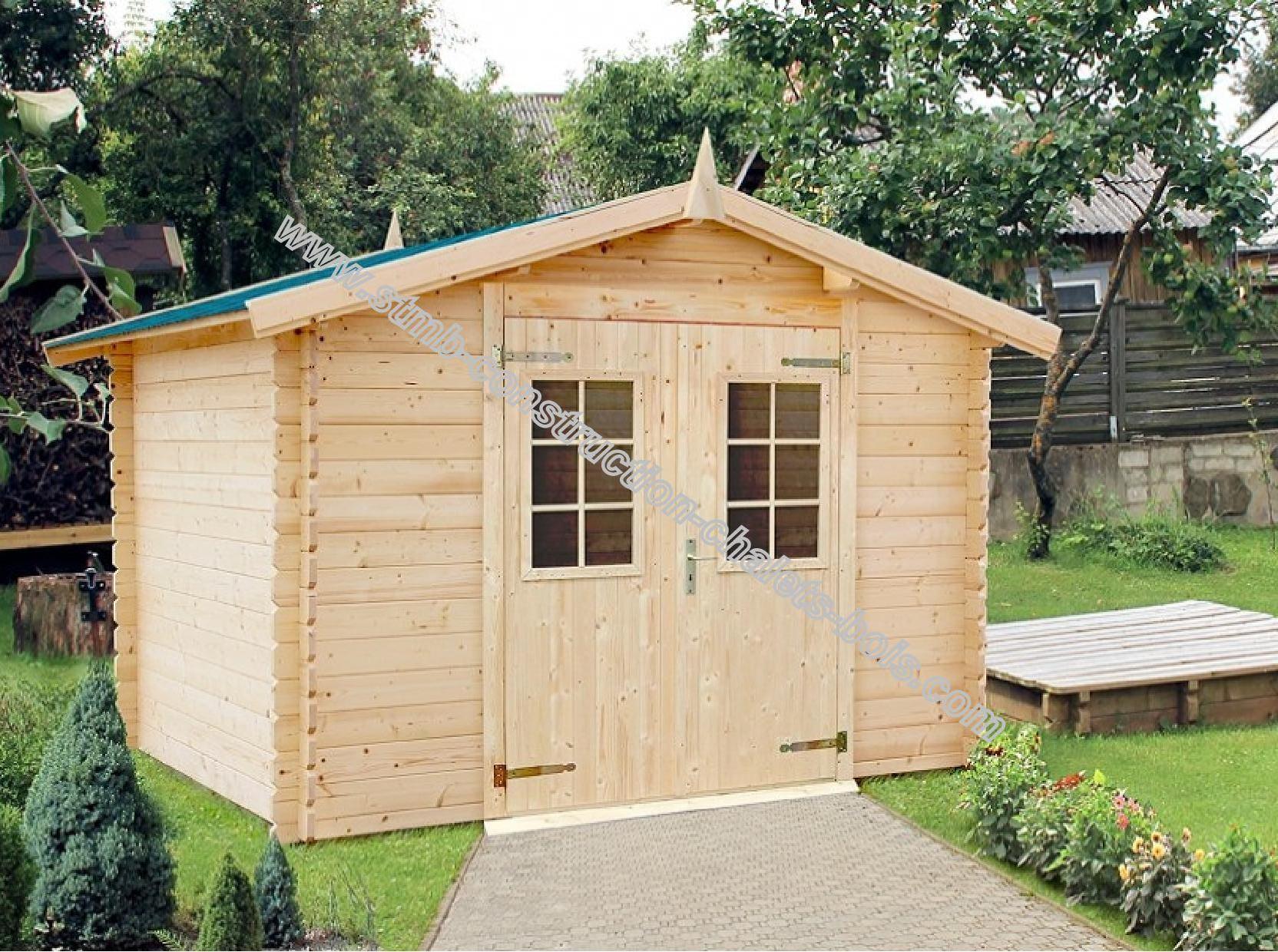 Kit abri de jardin en madriers de 28 mm livr gratuitement for Abri de jardin en kit