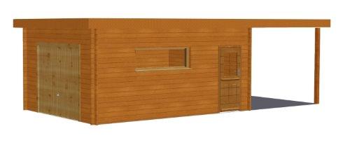 Ph1 hd garage bois toit plat abri brest stmb