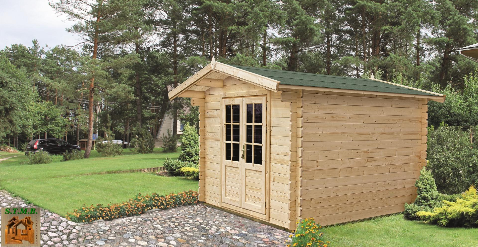 Ph1 kit chalet jardin bois olivier 7 9m 44mm stmb construction
