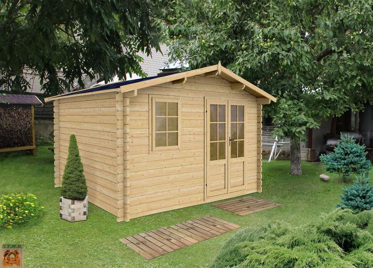 Kit chalet de jardin sans permis de construire pommier 14 m for Fabricant de chalet bois