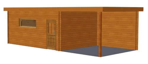 Ph2 hd garage bois toit plat abri brest stmb
