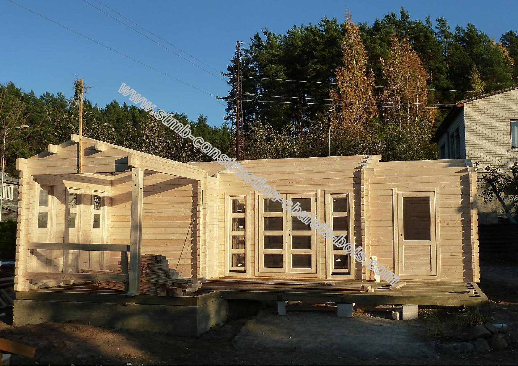 Ph4 hd chalet bois habitable chene stmb construction