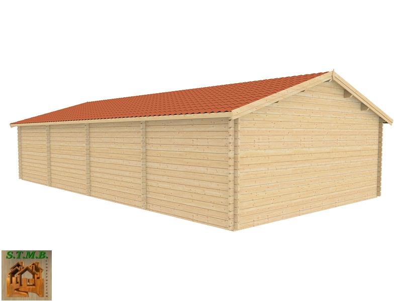 Ph4 kit abri bois voitures atelier cerisier 69m 44mm stmb construction