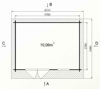 Ph5 kit chalet bois jardin pommier 10 12m stmb construction
