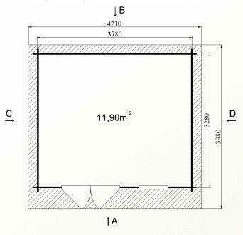 Ph5 kit chalet bois jardin pommier 12 14m stmb construction