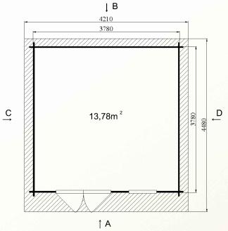 Ph5 kit chalet bois jardin pommier 14 16m stmb construction