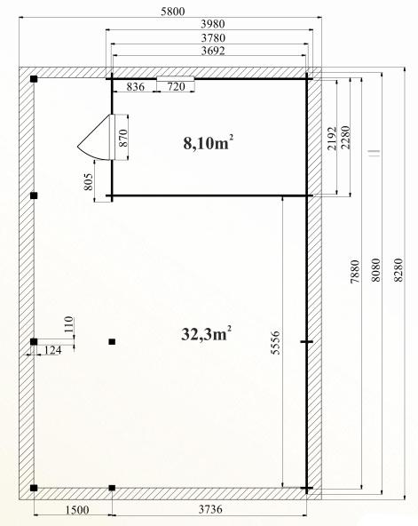 Ph6 kit abri voiture bois pecher 32m 44mm