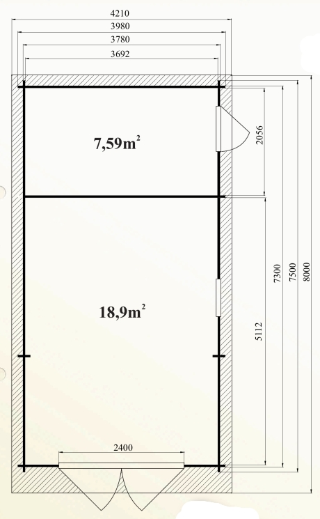Ph6 kit garage bois rangement platane 30m 44mm stmb construction