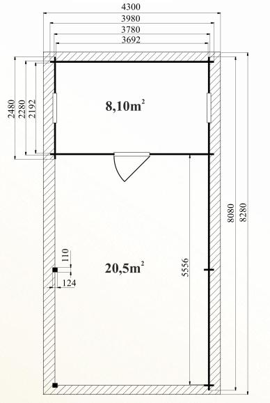 Ph7 kit abri voiture bois atelier robinier 32m 44mm