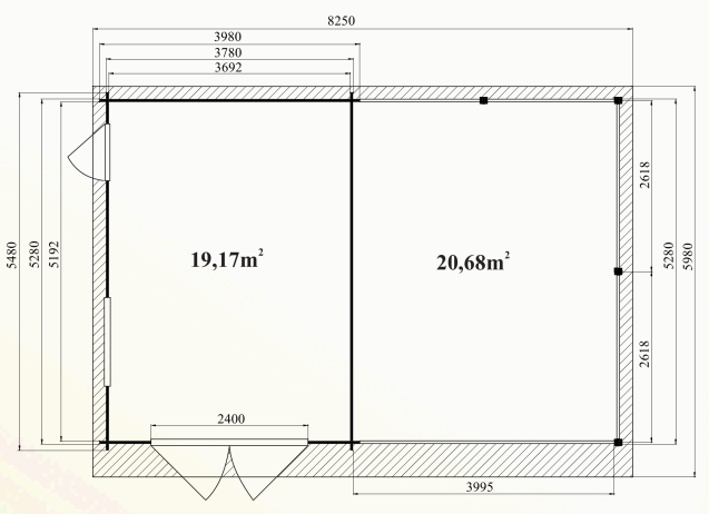 Ph7 kit garage bois carport granvillier 44m 44mm stmb construction