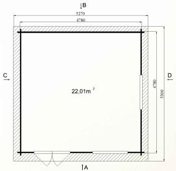 Ph8 plan kit chalet bois habitable loisirs hiba 22 stmb construction