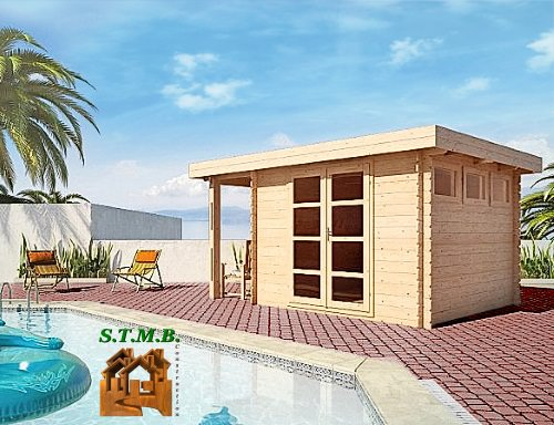 Photo 1 abri jardin toit plat acacia 12 stmb 1
