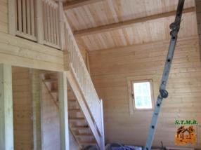 Photo 1 chalet en bois avec mezzanine pour quels escaliers opter stmb construction