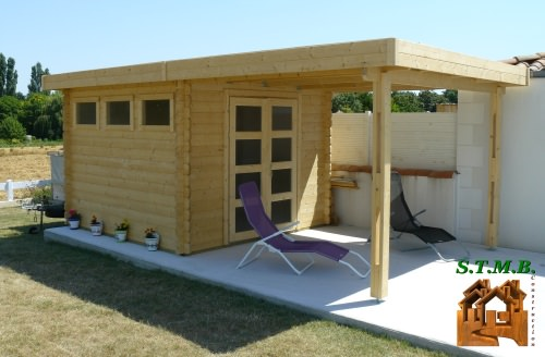 chalet toit plat un chalet de jardin ultra moderne. Black Bedroom Furniture Sets. Home Design Ideas