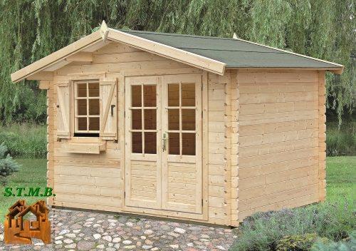 Kit chalet de jardin en bois madriers 28 mm mod le cedre 10 5 for Declaration prealable abri de jardin