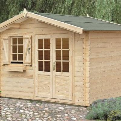 Photo 1 kit abri bois de jardin cedre 12 25m stmb construction
