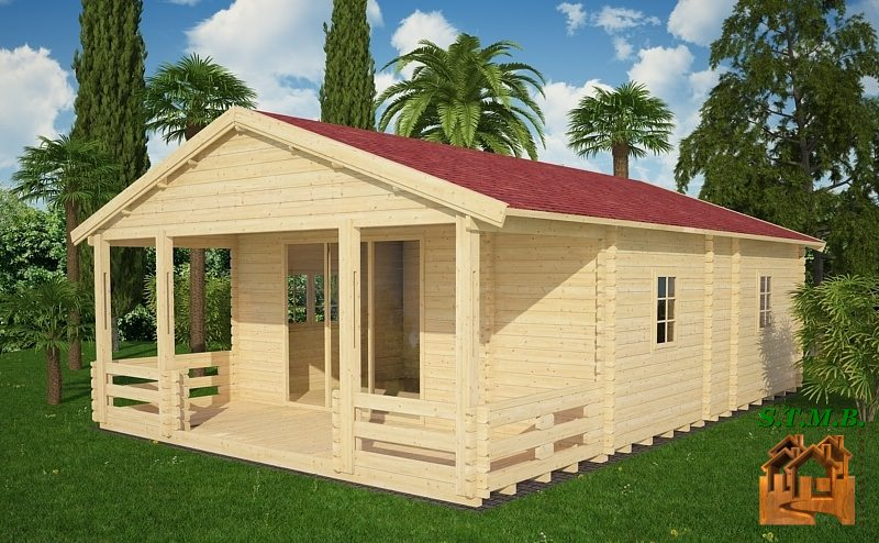 Photo 1 kit chalet bois habitable cognac stmb construction
