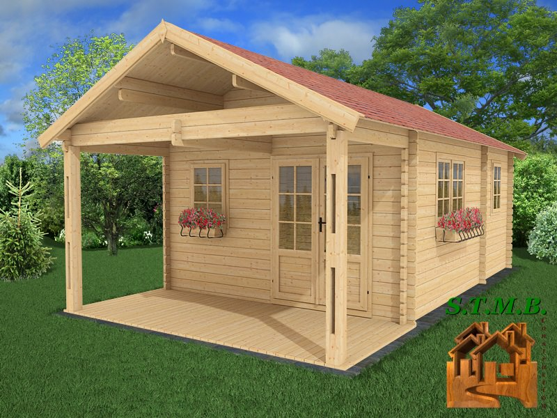 Photo 1 kit chalet bois habitable frene 30 stmb construction 1