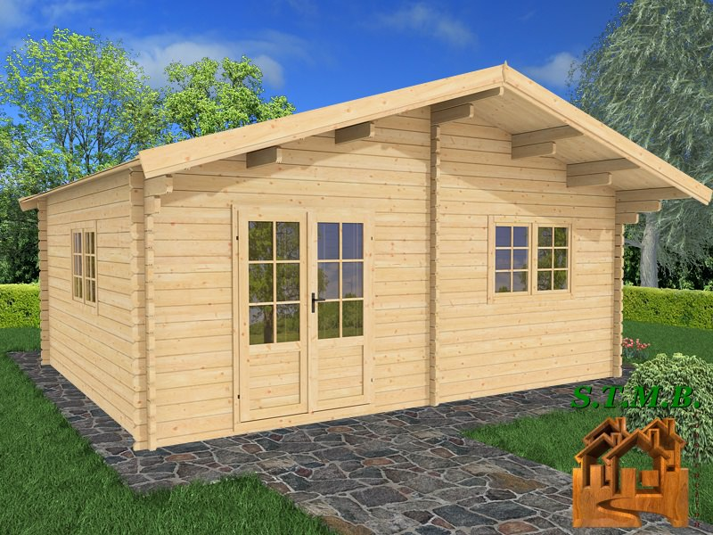 Photo 1 kit chalet bois habitable genevrier 30 stmb construction