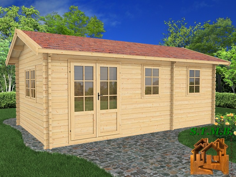 Photo 1 kit chalet habitable hetre 22 stmb construction