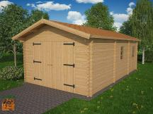 Photo 1 kit garage bois platane stmb construction 1