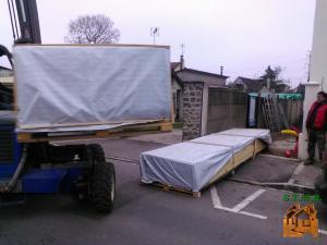 Photo 1 livraison chalet bois stmb construction